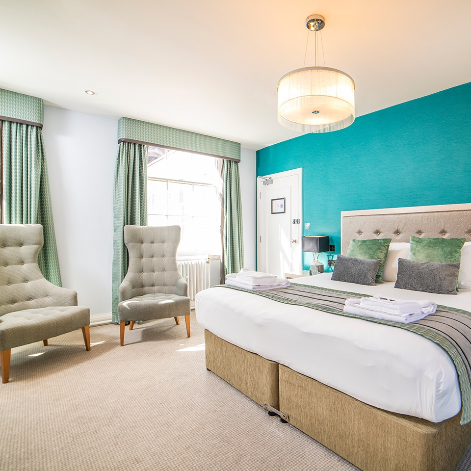 double bedroom accommodation at pelham house